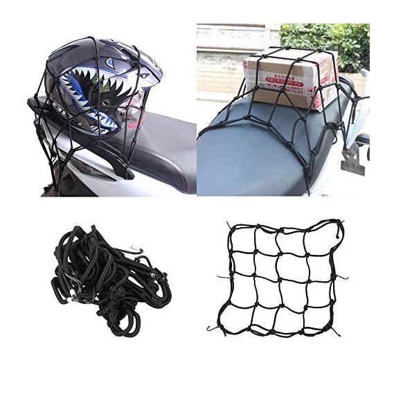 Skycandle Motorcycle Bike Helmet Holder 6 Hooks Hold Down 30 x 30cm Mesh Net Bag Luggage Cargo Mesh Net Auto Car Styling