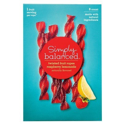 Simply Balanced Twisted Fruit Ropes - Raspberry Lemonade Two Pack (8 Each)