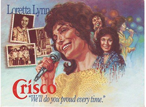 Loretta Lynn Vintage 1970s Crisco Postcard 5x7