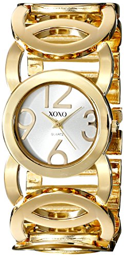 XOXO Women's XO5211 Gold-Tone Watch with Link Bracelet (Watch Tone Gold Link)
