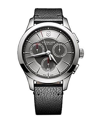 Victorinox Hombre Cronógrafo Cuarzo Reloj con Pulsera de Piel 241748: Amazon.es: Relojes