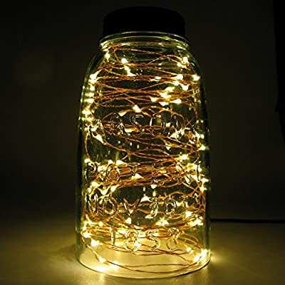 Copper Wire String Lights with Remote Control, 33 ft Starry Rope Lights Perfect For Home, Christmas, Parties Decorative Lights from Unido Box