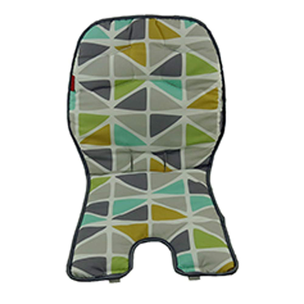 Replacement Pad for Fisher-Price High Chair - SpaceSaver Highchair FFJ02 ~ Includes 1 Replacement Seat Cover in Grays, Greens and White