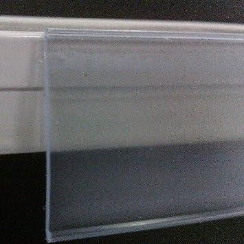 Pack de 50 portaprecios con adhesivo a 1 metro para etiquetas de 39mm Color transparente.