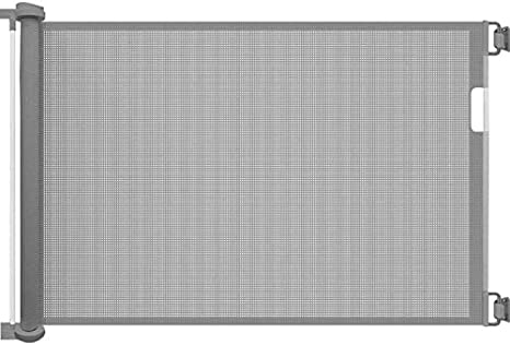 Callowesse® AIR - Barrera de Seguridad Enrollable/Extensible para Puertas y Escaleras 0-130 cm (110cm si se usa como una Barrera para Niños) - Color: Gris: Amazon.es: Bebé