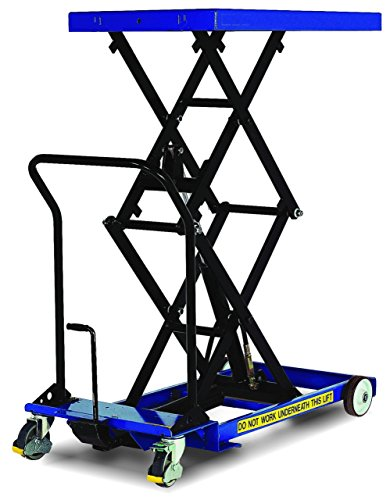 Lift Pump Scissor Table - Pake Handling Tools - Low Profile Double Scissor Lift Table, 660 lbs, 33 X 23