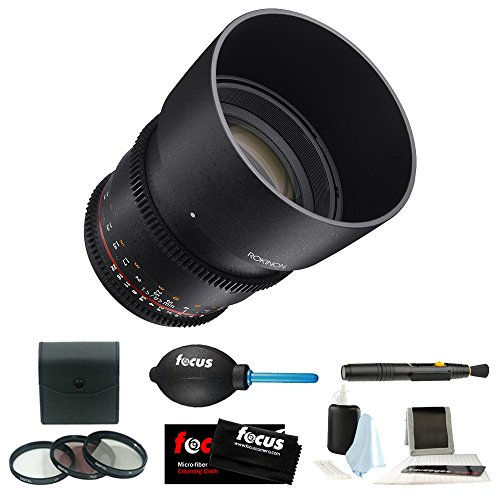 Rokinon DS 85mm T1.5 Cine Lens for Sony E-Mount + Accessory and Filter Bundle