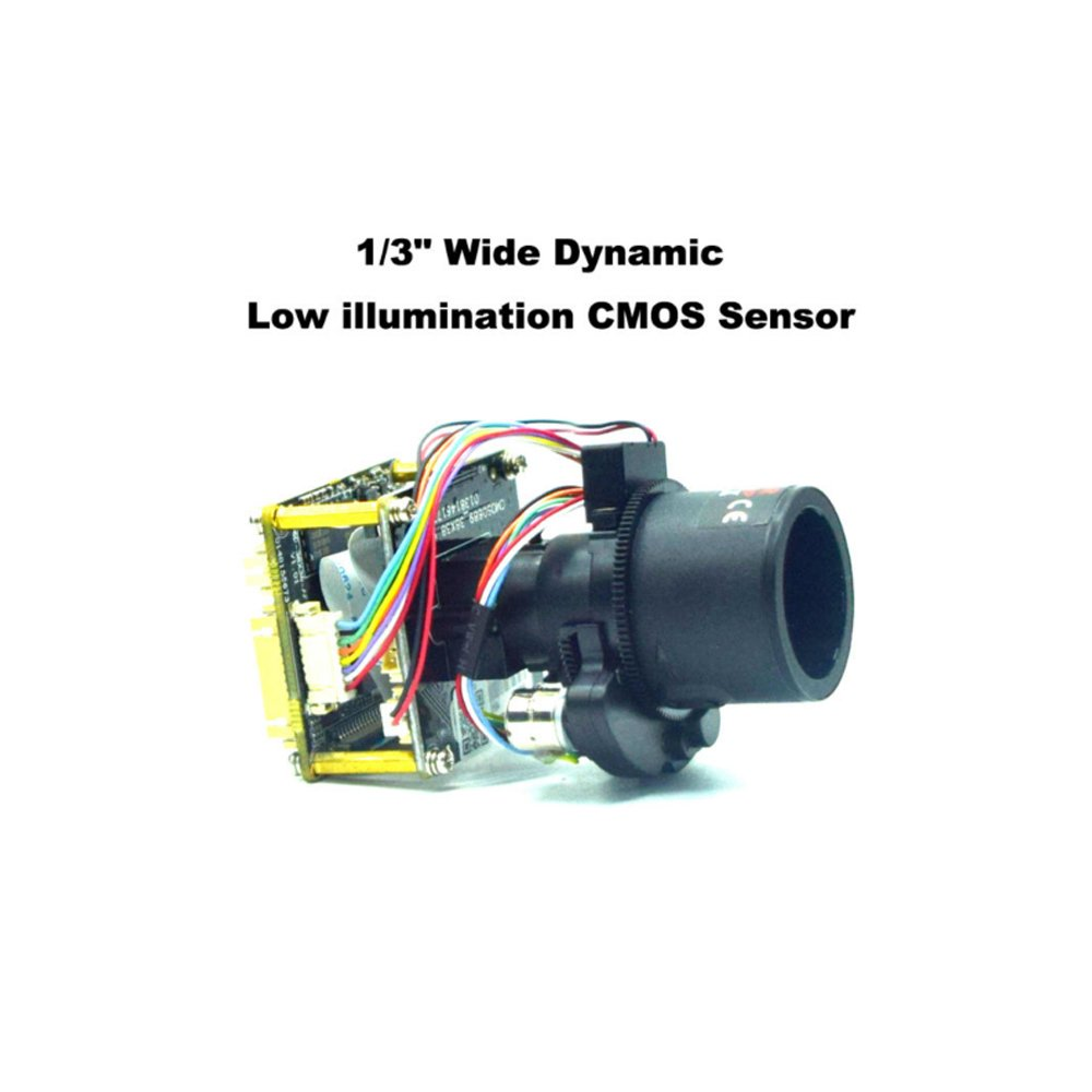 Quanmin H.265 4MP IP Camera Module PCB Board HD 1080P 1/3'' CMOS OV4689+HI3516D With Motorized Lens Auto-Zoom Iris Motorized 2.8-12mm Lens Support Onvif CMS P2P View by Quanmin