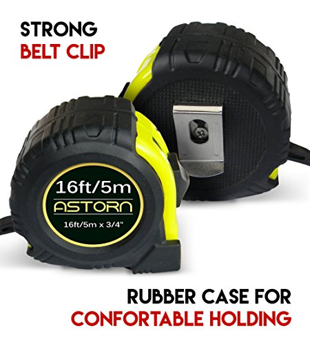 Measuring Tape For Contractors & DIY | Tape Measurer (Cinta Metrica) | Metric & Inches Measuring Tape for Construction | Heavy Duty Tape Measure with Smooth Sliding Nylon Coated Ruler by Astorn by Astorn (Image #4)