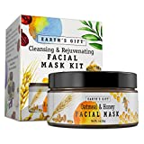Facial Mask Using Honey - Oatmeal & Honey Facial Mask Kit For Women and Men. 100% All Natural & Antioxidant Rich. Cleanses and Rejuvenates Your Skin. 10 Applications. Enjoy Being You