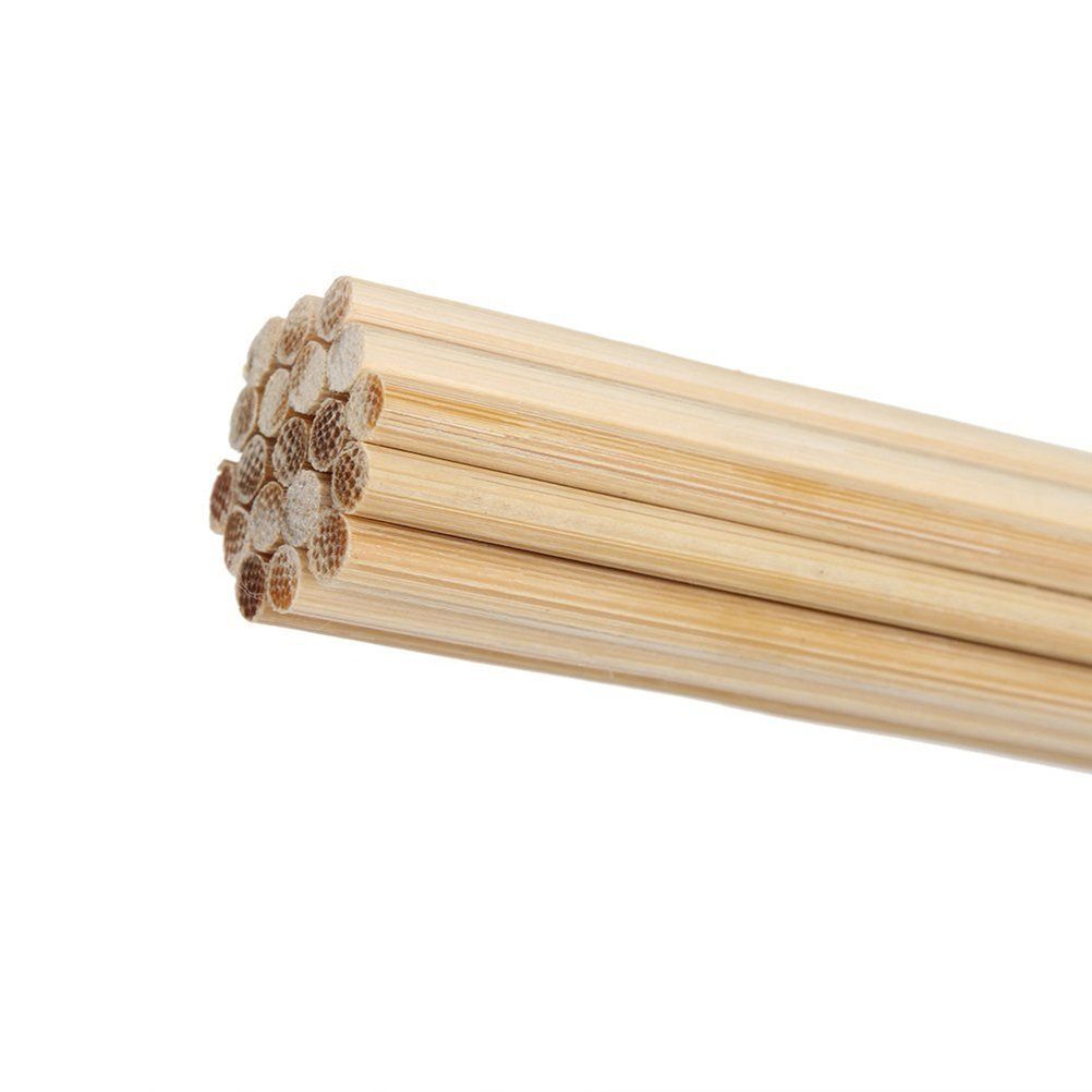 Timiy 1-Pair Durable Bamboo Drum Brushes Sticks with Rubber Handle for Jazz Folk Music 40cm/15.7 inch