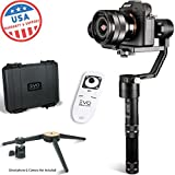 EVO Rage 3 Axis Gimbal for Mirrorless Cameras - Works with Sony A7S II, Panasonic GH4 GH5 - 1 Year USA Warranty | Bundle Includes: Rage + Tripod Stand + Wireless Remote