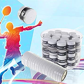 Amazon.com : Yichener 60pcs Replacement Anti-Slip Racket Overgrips Over Grips Tennis Badminton Squash Racquet Tape Grips : Sports & Outdoors