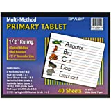 Top Flight Multi-Method 3rd Grade Primary Tablet, 1/2 Inch Ruling, Bond Paper, 11 x 8.5 Inches, 40 Sheets (56419)