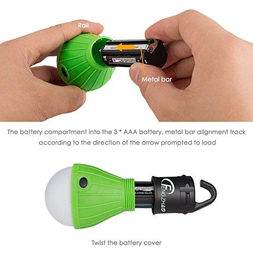 Portable LED Camping Lantern Tent Light Bulb for Hiking, Battery Powered Emergency Lantern Light for Household, Fishing, Car Repairing FENGZHAO L01