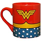 Silver Buffalo Wonder Woman Uniform Ceramic Coffee Mug, 14-Ounce