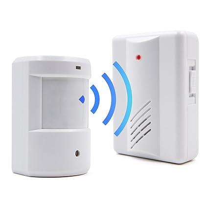 Surwin Kit de alarma con sensor de movimiento por infrarrojos para casa u oficina, radio