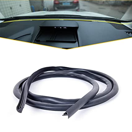 Volwco Car Seal Strip 1.6m Soundproof Dustproof U Type Rubber Edges Sealing Strip Noise Insulation For Auto Car Dashboard Windshield Black