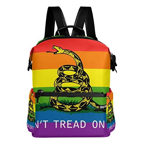 (Dont Tread Me Gadsden Flag Unisex Rucksack Canvas Satchel Casual Daypack,School College Student Backpack)