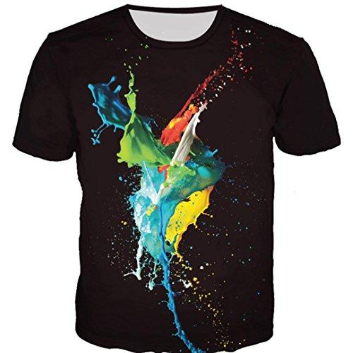 shirts Unisexe shirt Grande À Pattern Courtes 2 M T Imprimé Manches 3d 5xl Noir Covermason T Chemisier Hommes Taille Tops 4apwT