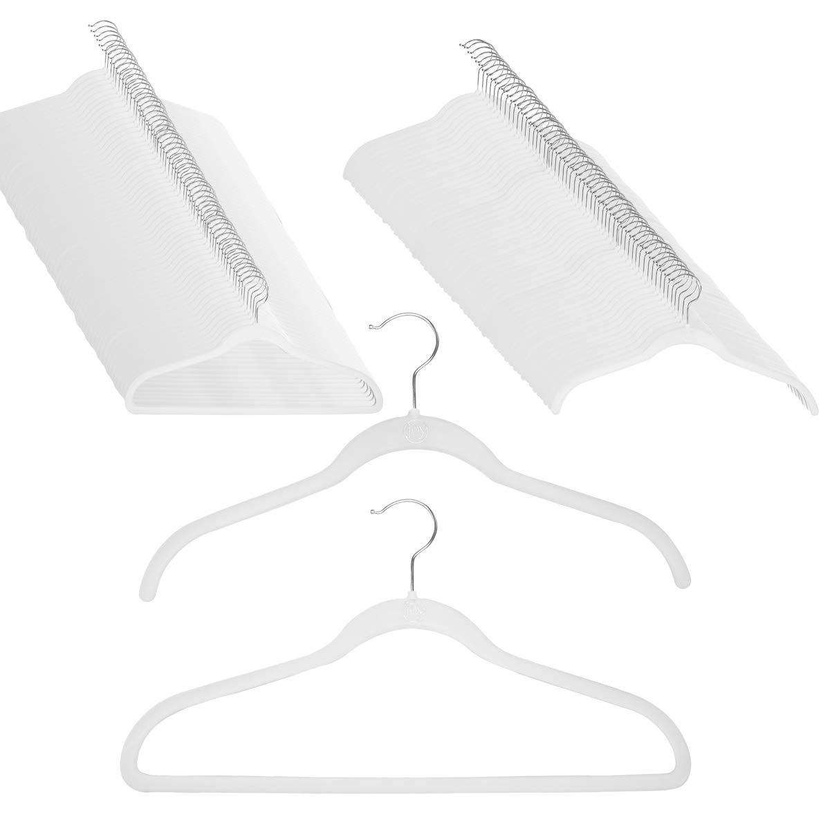 Joy Mangano 120 Pack White Huggable Hangers Non Slip Velvet Hangers Space Saving Clothes Hangers by Joy Mangano (Image #1)