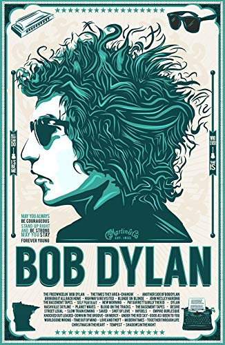 (Bob Dylan Iron On Transfer for T-Shirts & Other Light Color Fabrics #1)