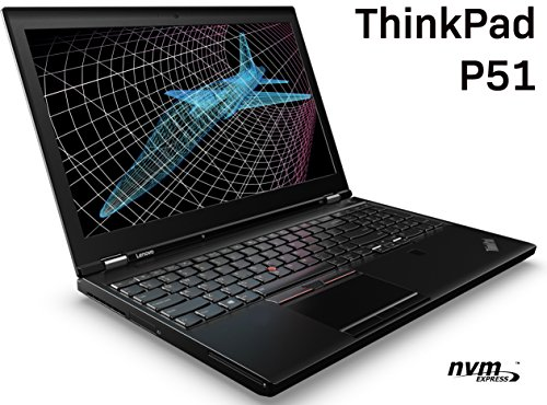 "Lenovo ThinkPad P51 Mobile Workstation - Intel Quad-Core i7-7700HQ, 64GB DDR4 RAM, 512GB PCIe NVMe SSD, 15.6"" FHD IPS 1920x1080 Display, NVIDIA Quadro M1200M 4GB, Windows 10 Pro 64, 3-Year Warranty"