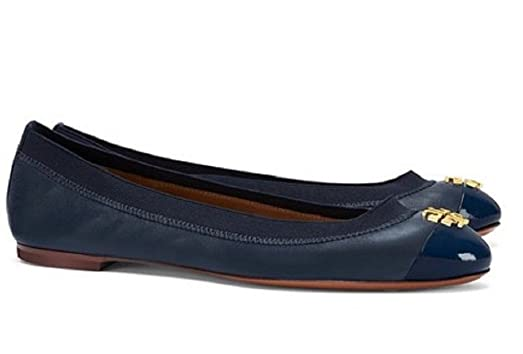 Tory Burch Royal Navy Jolie Ballet Flats Sz 6.5 US