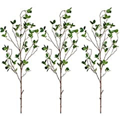 Ficus artificial stems and branches with real touch green leaves are great for vase decor in any places.  Specifications: Product Height: Total length of 39.5 inches/80 cm. (Please allow 1-2cm differs due to manual measurement.) Weight: 0.12 ...
