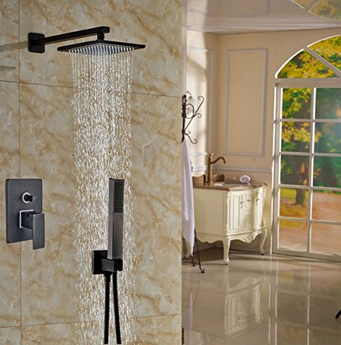 GOWE Oil Rubbed Bronze 10-in Shower Set Wall Mounted Shower Units Bath Rainfall Tap 0