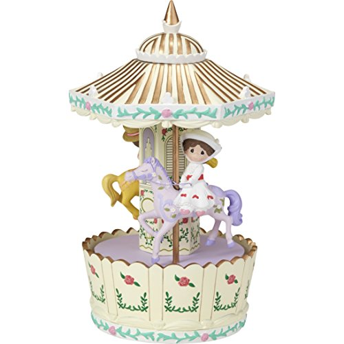 Precious Moments Disney Mary Poppins Make Every Day A Jolly Holiday Carousel Rotating Resin Music Box 173111
