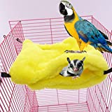 Braceus Hammock Mini House for Pet Ferret Rat Hamster Parrot Squirrel Hanging Bed Toy size L (Yellow) Review