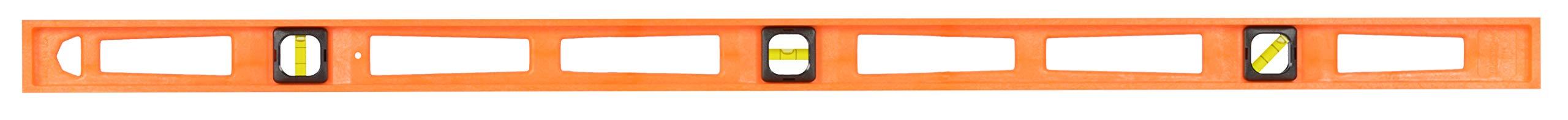 Johnson Level and Tool 7748-O 48-Inch GloOrange Structo Cast Level - 3 Vial by Johnson Level & Tool (Image #1)