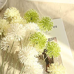 Gotian Artificial Silk Fake Flowers Dandelion Floral Wedding Bouquet Hydrangea Decor - Flower Language: Love That Can't Stop, Love That Can't Stay, Love That Never Ends - Single-Piece Package 14