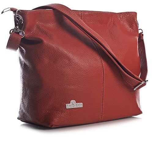Hobo Bolso LiaTalia Rojo mujer de modelo hombro suave de piel para ADAL BqHAwzZqx
