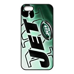New York Jets 5s Cases TPU Rubber Hard Soft Compound Protective Cover Case for iPhone 5 5s