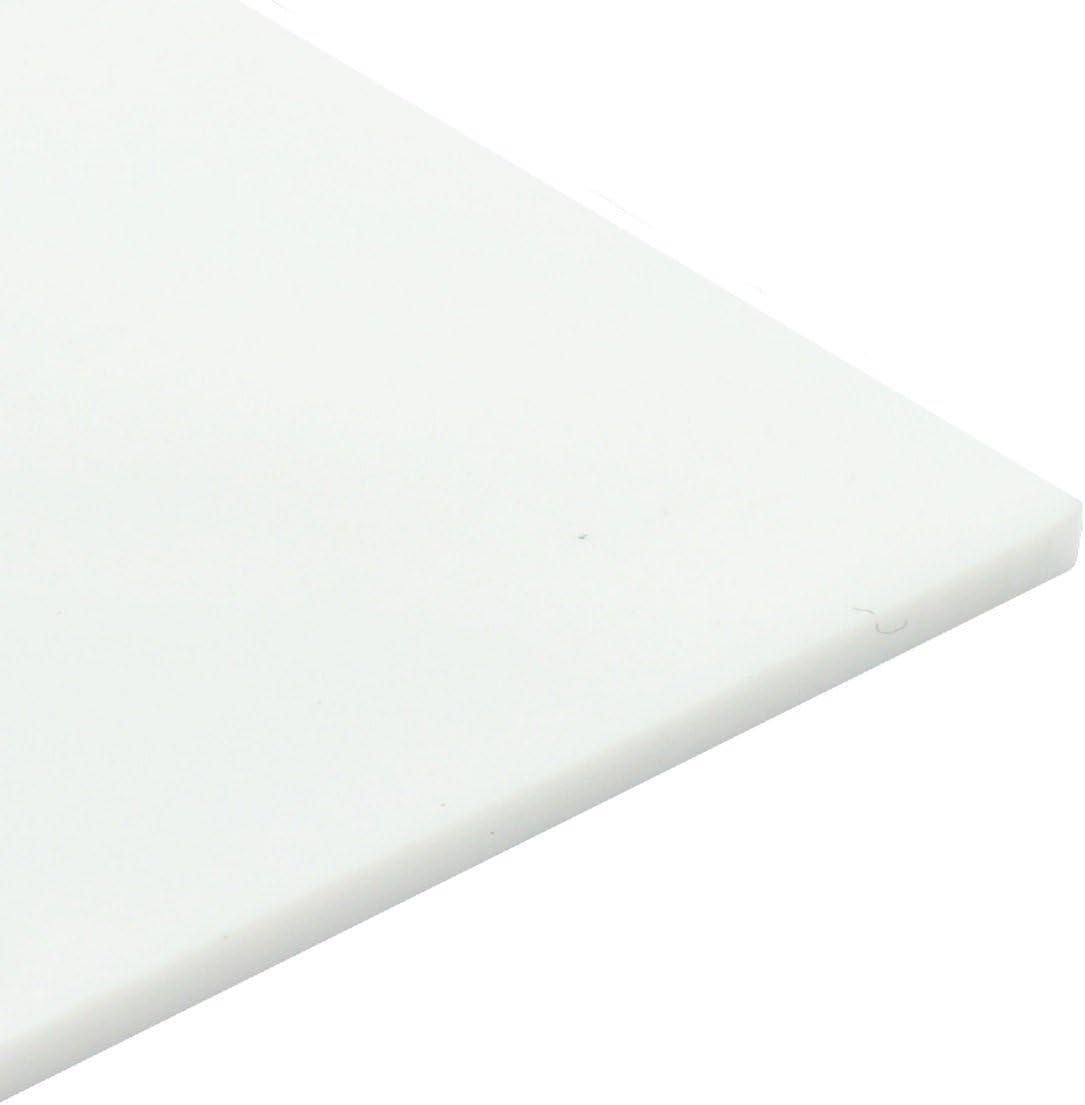 Perspex Marco de acristalamiento de seguridad pl/ástico 5 mm blanco brillante hoja de acr/ílico A5 210 x 148