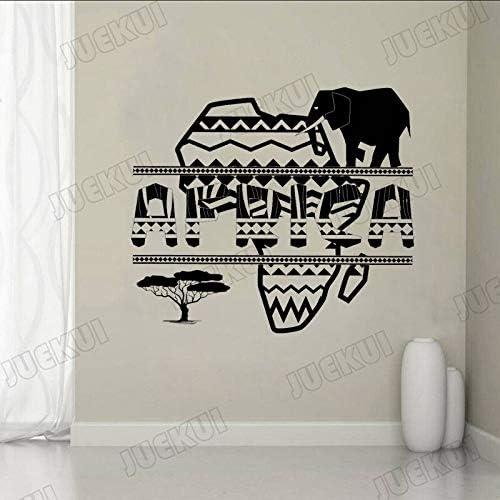 guijiumai Mapa Africano Letras Creativas Elefante Etiqueta de la ...