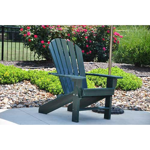 Seaside Adirondack Chair, Green (Seaside Furniture Casual Outdoor)