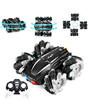 RC Car Remote Control Car, Eocean 4WD RC Stunt Car with LED Headlight & 360°Rotating, 2.4GHz High Speed Off Road Drift Cars, Suitable for Age 5 6 7 8 9-12 Year Old