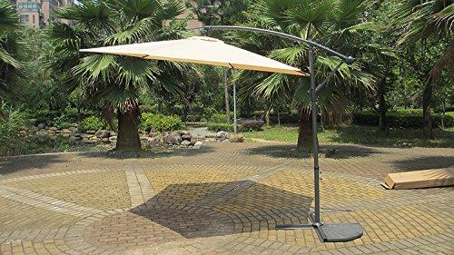 10' Top Quality Cantilever Parasol Garden Patio Home Umbrella #2010 (Beige)