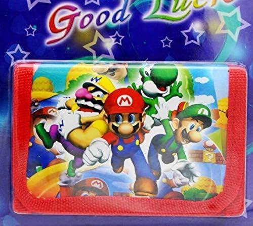YangQian Montre pour Enfants Super Mario Super Mario Enfants Sets Montre Et Portefeuille Porte-Monnaie Poignet Quartz Noël Enfants Cadeau Cartoon Montres Étudiants Montres Cadeaux