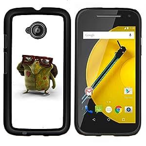 "Be-Star Único Patrón Plástico Duro Fundas Cover Cubre Hard Case Cover Para Motorola Moto E2 / E(2nd gen)( Gafas Monstruo Verde Amor Criatura Arte"" )"
