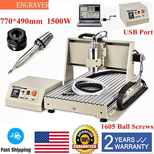 WUPYI USB PORT 3 Axis Engraver 1.5KW VFD CNC 6040 Router Milling Engraving Machine 3D Printer
