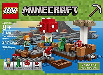 LEGO Minecraft The Mushroom Island 21129 Building Kit (247 Pieces) by LEGO