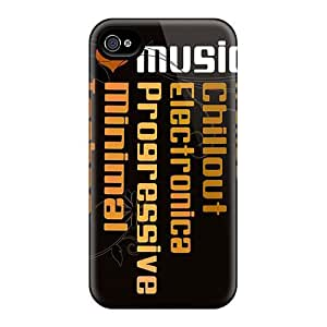 Series Skin Case Cover For Iphone 4/4s(i Love Music)