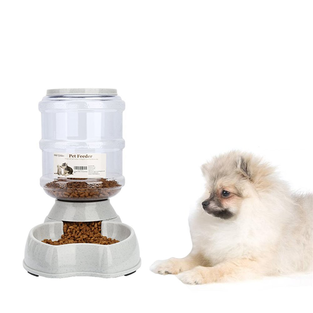 Dog Food Dispenser,8.3lbs Automatic Pet Food Dispenser,Large Capacity Cat Feeder Food Station
