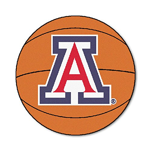 FANMATS NCAA University of Arizona Wildcats Nylon Face Basketball Rug