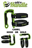 Add a Handle Portable Multiuse Handle & Hook uses Adjustable Velcro Brand Customized Buckle Straps with Easy Pull Tabs and Utility Magnet for a better grip MADE IN USA