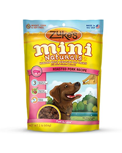 Zukes's Mini Naturals Healthy Moist Training Treats, Roasted Pork Recipe, 2-Pound